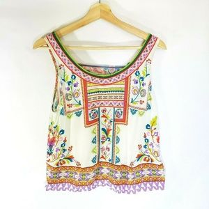 Flying Tomato Womens Large Rayon Multicolor